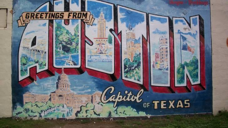 Austin sign greetings to austin