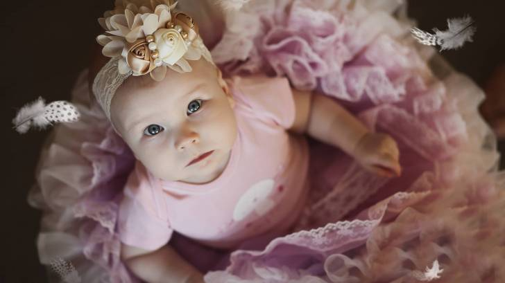 little girl in pink