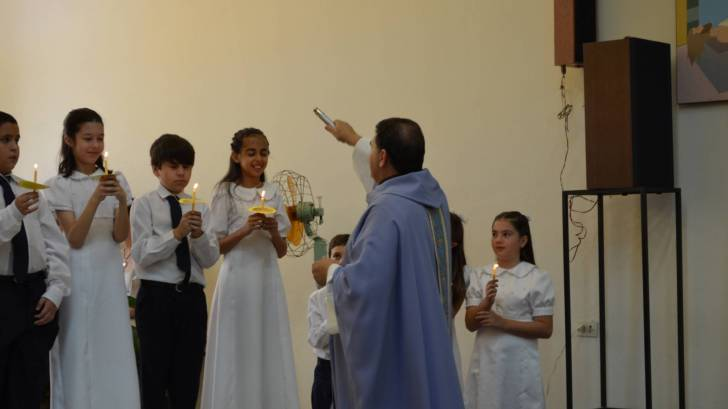 catholic service with children