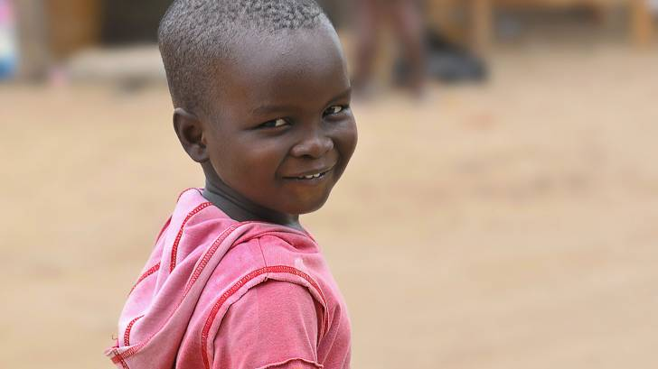 african child happy