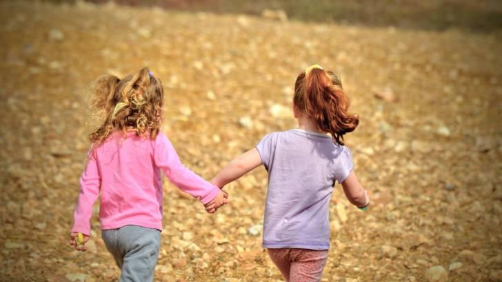 children running in the park