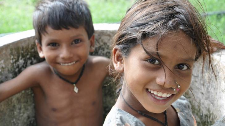 young children happy smiling healthy