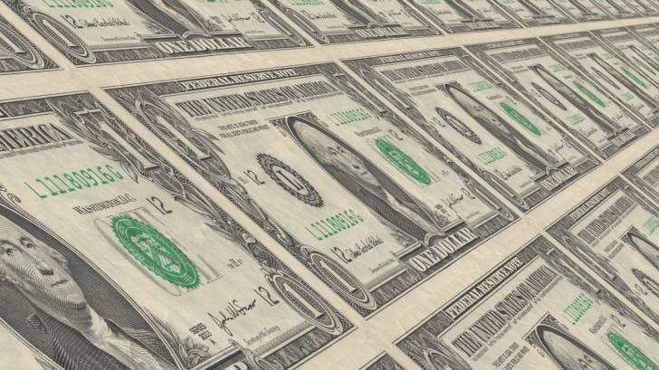 dollar bills printed