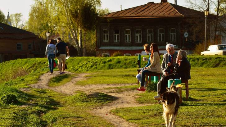Older people in a park