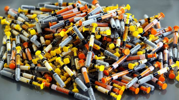 multiple syringes