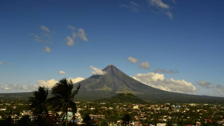 Mayon volcao in the philippines
