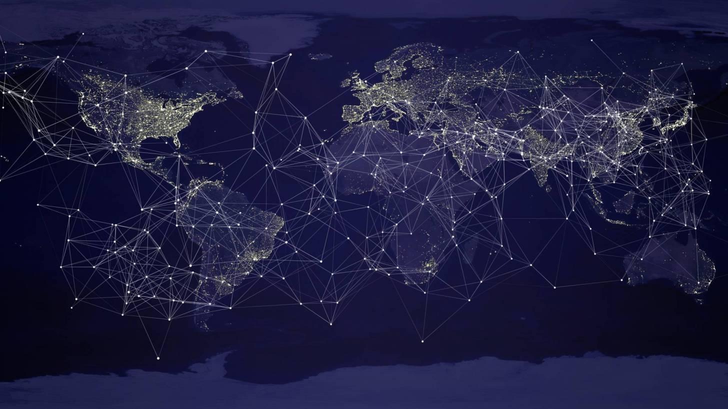 world showing communitcaton
