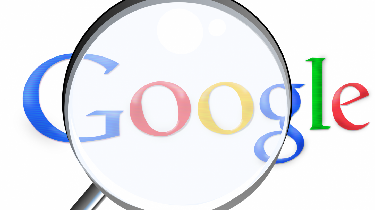 google with a magnifying glass