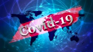 graphic with the world and covid-19 across the world