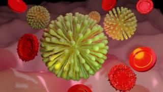 covid-19 virus depiction