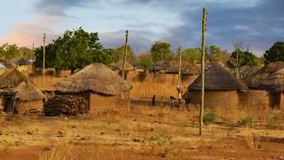 west african hut village