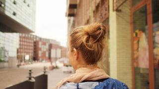 young woman back of her head