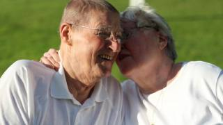 grandparents talking and laughing