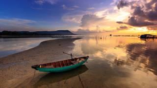 asian beach scene