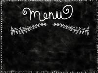 menu on a blackboard