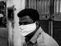 indian man with a mask