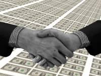 hand shake over money